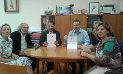 Autoridades del Municipio de Aguas Corrientes y de Ayuntamiento de Alfas del Pi.